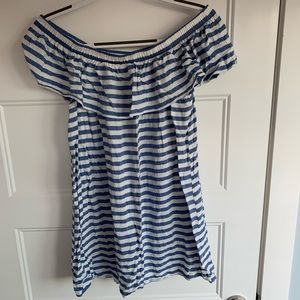 Forever 21 Blue and White Striped Dress